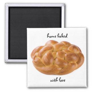 Zuhause gebacken mit Liebemagneten Quadratischer Magnet