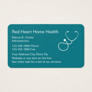 Zuhause-Gesundheits-Krankenpflege-Dienstleistungen Visitenkarte