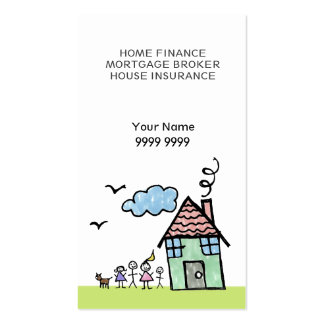 Zuhause-Haus-Finanzschablonen-Geschäfts-Karte Visitenkarten