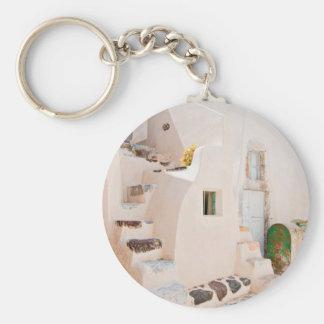 Zuhause in Santorini Schlüsselanhänger