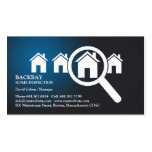 Zuhause-Inspektions-Geschäfts-Karte Visitenkartenvorlagen