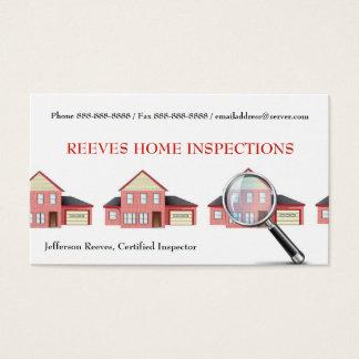 Zuhause-Inspektions-Inspektor-Geschäfts-Karte Visitenkarte