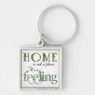 Zuhause ist eine Gefühls-Phrase Keychain Schlüsselanhänger