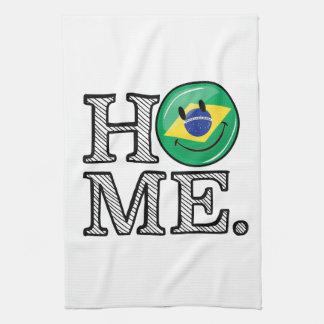Zuhause ist Flaggen-Haus-Wärmer Brasiliens Handtuch
