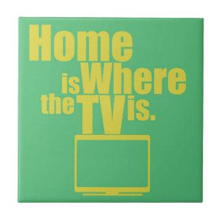 Zuhause ist, wo das Fernsehen ist Keramikfliese