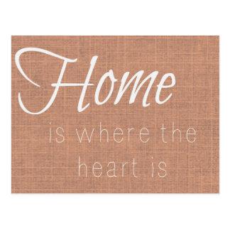 Zuhause ist, wo das Herz Brown ist Postkarte
