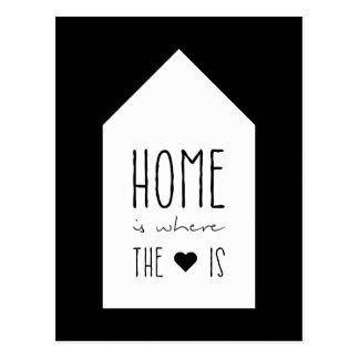 Zuhause ist, wo das Herz ist - Inspirational Karte