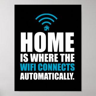 Zuhause ist, wo das Wi-Fi automatisch anschließt Poster
