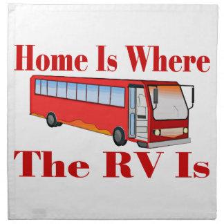 Zuhause ist, wo der RV ist Stoffserviette