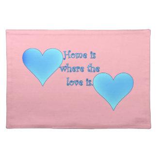 Zuhause ist, wo die Liebe ist Tischset