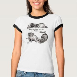 Zuhause ist, wo die Ratte das T-Shirt der Frauen