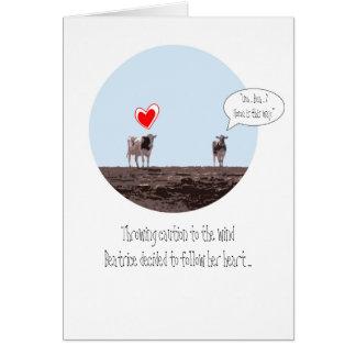 Zuhause ist, wo Ihr Herz Valentine ist Karte