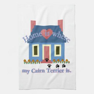Zuhause ist, wo mein Cairn-Terrier ist Geschirrtuch