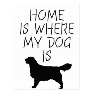 Zuhause ist, wo mein Hund ist (goldener Retriever) Postkarte