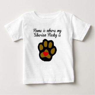 Zuhause ist, wo mein sibirischer Schlittenhund ist Baby T-shirt
