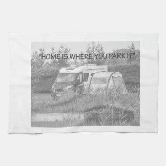 """""""Zuhause ist, wo Sie es"""" Teetücher parken Handtuch"""