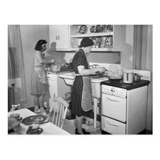 Zuhause-Kochen: 1942 Postkarte