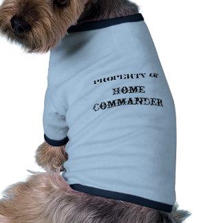 Zuhause-Kommandant Ringer Hunde-Shirt