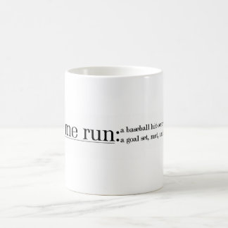 Zuhause-Lauf Kaffeetasse
