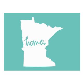 Zuhause-Minnesota-Gewohnheits-Farbe Postkarte