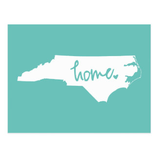 Zuhause-Nord-Carolinagewohnheits-Farbe Postkarte