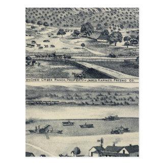 Zuhause-Ranchs in Fresno, Kalifornien Postkarte