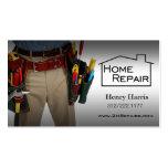 Zuhause-Reparatur-Heimwerker Visitenkartenvorlage