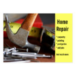 Zuhause-Reparatur, Zimmerei, malend… Visitenkartenvorlage
