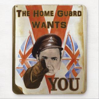 Zuhause-Schutz-Plakat Mauspads