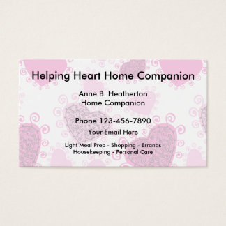 Zuhause-Sorgfalt-Begleiter Visitenkarte