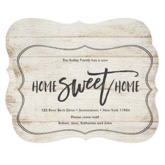 Zuhause-süße Zuhause-hölzerne Paletten-bewegliche Karte