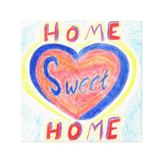 Zuhause-süße Zuhause-Leinwand Leinwanddruck