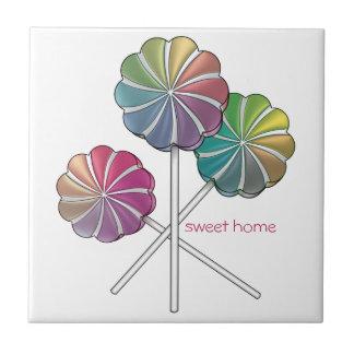 Zuhause-süße Zuhause-Lutscher Keramikfliese