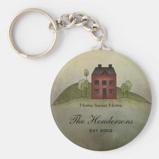 Zuhause-süßer Zuhause-individueller Name Keychain Schlüsselanhänger