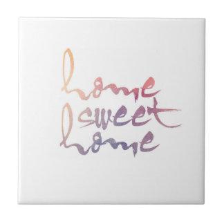 Zuhause-süßer ZuhauseWatercolor Fliese