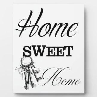 Zuhause-süßes Zuhause-bedruckbare Kunst Fotoplatte