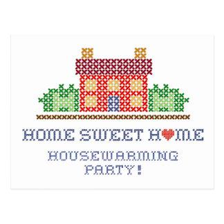 Zuhause-süßes Zuhausehousewarming-Party Postkarte