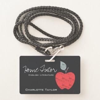 Zuhause-Tutor-Lehrer-Apple-Geschäft personalisiert Ausweis