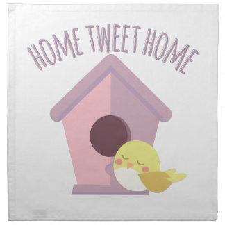 Zuhause tweeten Zuhause Serviette