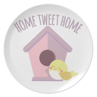 Zuhause tweeten Zuhause Teller
