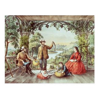 Zuhause vom Bach, die glücklichen Fischer Postkarte