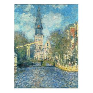 Zuiderkerk in Amsterdam durch Claude Monet Postkarte