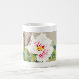 Zuigetsu Ikeda japanische Blumenkunst rosa Kamelie Kaffeetasse