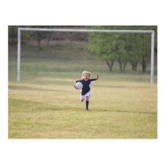 Zujubelnder und schreiender Fußballspieler Postkarte