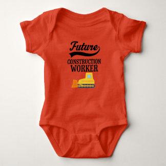 Zukünftige Bauarbeiter-Planierraupen-Ausstattung Baby Strampler