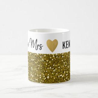 Zukünftige Frau Gold Glitter Kaffeetasse