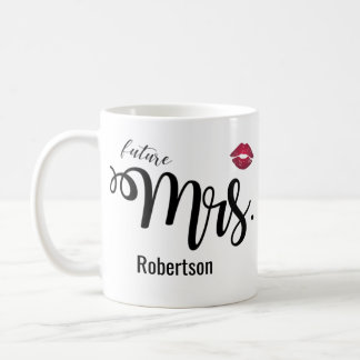 (Zukünftige) Frau mit einer Kusskaffee-Tasse Kaffeetasse