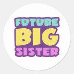 Zukünftige große Schwester Runder Aufkleber