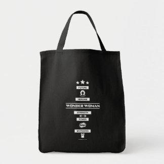 Zukünftige Heldin-Wunder-Frau Einkaufstasche