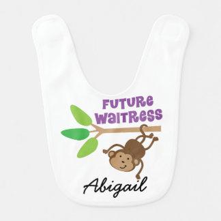 Zukünftige Kellnerin-personalisierter Lätzchen
